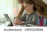 cute children use laptop for...   Shutterstock . vector #1909333846