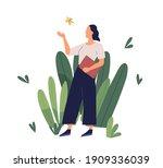 concept of positive working... | Shutterstock .eps vector #1909336039