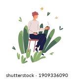 positive working environment... | Shutterstock .eps vector #1909336090