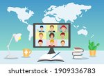 global online education... | Shutterstock .eps vector #1909336783