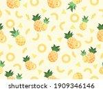 vector pineapple seamless... | Shutterstock .eps vector #1909346146