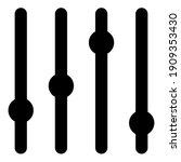 sliders icon. slider bar symbol ... | Shutterstock .eps vector #1909353430