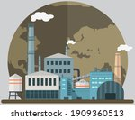 manufacture pollutes... | Shutterstock .eps vector #1909360513