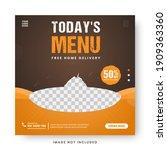 food menu banner social media... | Shutterstock .eps vector #1909363360