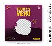 food menu banner social media... | Shutterstock .eps vector #1909363363