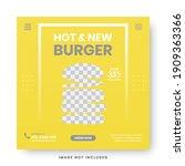 food menu banner social media... | Shutterstock .eps vector #1909363366