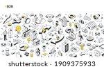 b2b concept. business partners... | Shutterstock .eps vector #1909375933