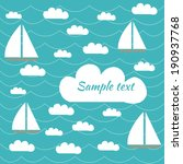 boats and clouds vector banner... | Shutterstock .eps vector #190937768