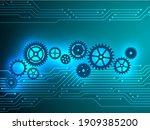 semiconductor and gear cogwheel ...