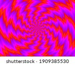 rotation red spirals. spin... | Shutterstock .eps vector #1909385530