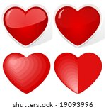 vector  hearts. the upper two...
