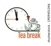 Tea Break. Clock  Tea Time Icon ...