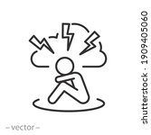 anxiety or stress icon  angry... | Shutterstock .eps vector #1909405060