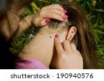 people looking at wood tick... | Shutterstock . vector #190940576