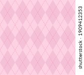 valentines day argyle plaid....   Shutterstock .eps vector #1909412353