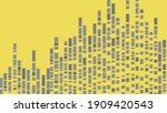 gray dotted line rising to the... | Shutterstock .eps vector #1909420543