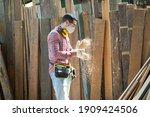 Yong Caucasian Male Carpenter...