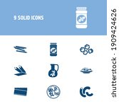 cuisine icon set and pasta...