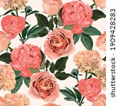 floral seamless pattern with...   Shutterstock .eps vector #1909428283
