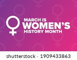 march is national women s... | Shutterstock .eps vector #1909433863