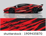 car wrap graphic racing... | Shutterstock .eps vector #1909435870
