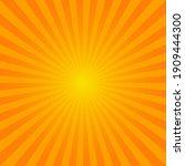 bright orange sunburst... | Shutterstock .eps vector #1909444300