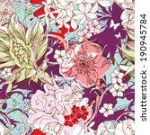 seamless flowers pattern eps10 | Shutterstock .eps vector #190945784