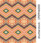seamless colorful navajo pattern | Shutterstock .eps vector #190946000