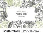 hand drawn phistachio branch... | Shutterstock .eps vector #1909462969