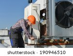 air conditioning repair  young ... | Shutterstock . vector #190946510