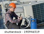air conditioning repair  young ... | Shutterstock . vector #190946519