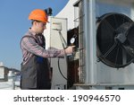 air conditioning repair  young ... | Shutterstock . vector #190946570