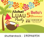 luau party invitation | Shutterstock .eps vector #190946954