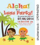 luau party invitation | Shutterstock .eps vector #190946960