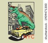Vector Illustration Of Dinosaur ...