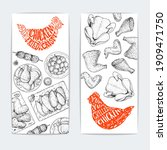 chicken dinner. grilled and... | Shutterstock .eps vector #1909471750
