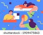 flat style business people...   Shutterstock .eps vector #1909475863