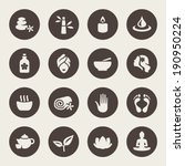 spa icon set | Shutterstock .eps vector #190950224