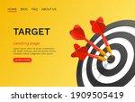 target landing page  banner... | Shutterstock .eps vector #1909505419