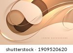 abstract white and gold luxury...   Shutterstock .eps vector #1909520620