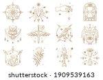 esoteric symbols. vector thin...   Shutterstock .eps vector #1909539163