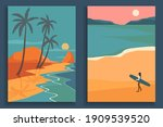 abstract coloful landscape... | Shutterstock .eps vector #1909539520