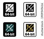 """64 bit"" computer architecture... | Shutterstock .eps vector #1909545616"