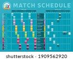 euro 2020 match schedule... | Shutterstock .eps vector #1909562920