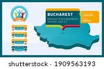 isometric romania country map... | Shutterstock .eps vector #1909563193