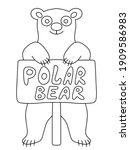 funny cartoon polar bear  stock ... | Shutterstock .eps vector #1909586983