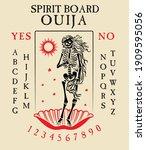 spirit board ouija with... | Shutterstock .eps vector #1909595056