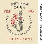 spirit board ouija with...   Shutterstock .eps vector #1909595059