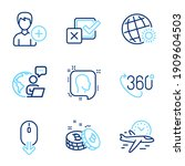business icons set. included...   Shutterstock .eps vector #1909604503
