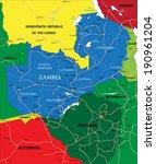 zambia map | Shutterstock .eps vector #190961204